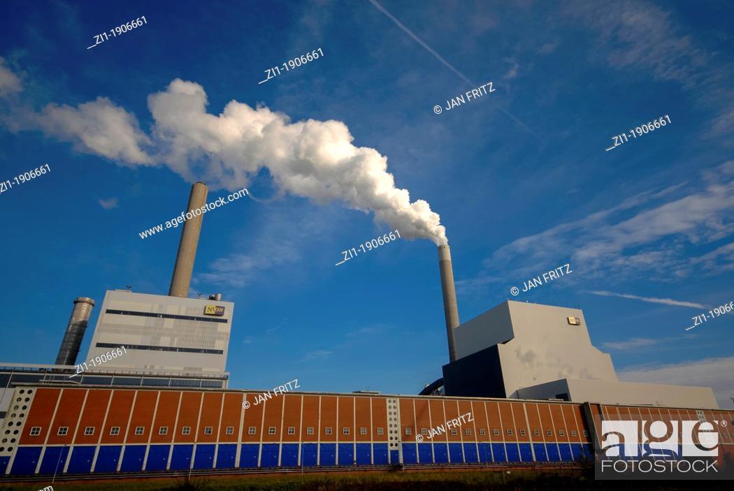 Photo de stock: electricity supply centre, Amsterdam.