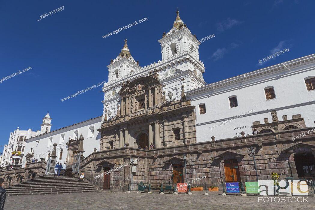 Stock Photo: San Francisco church, Quito, Ecuador.