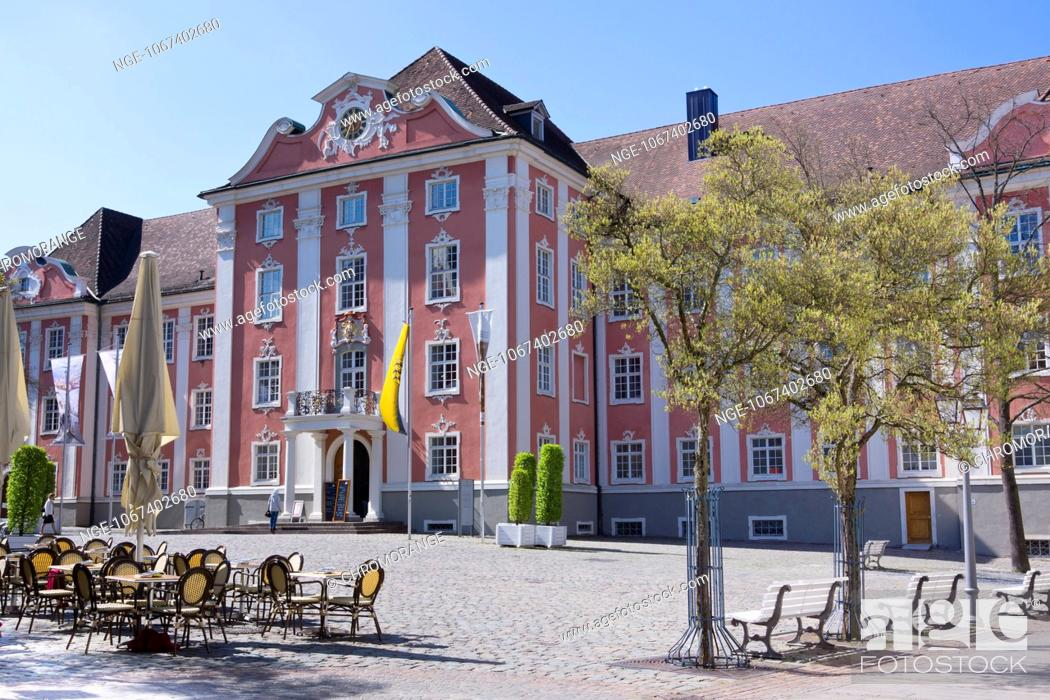 Stock Photo: Neues Schloss, New Castle, Meersburg, Lake Constance, Baden-Wuerttemberg, Germany, Europe.
