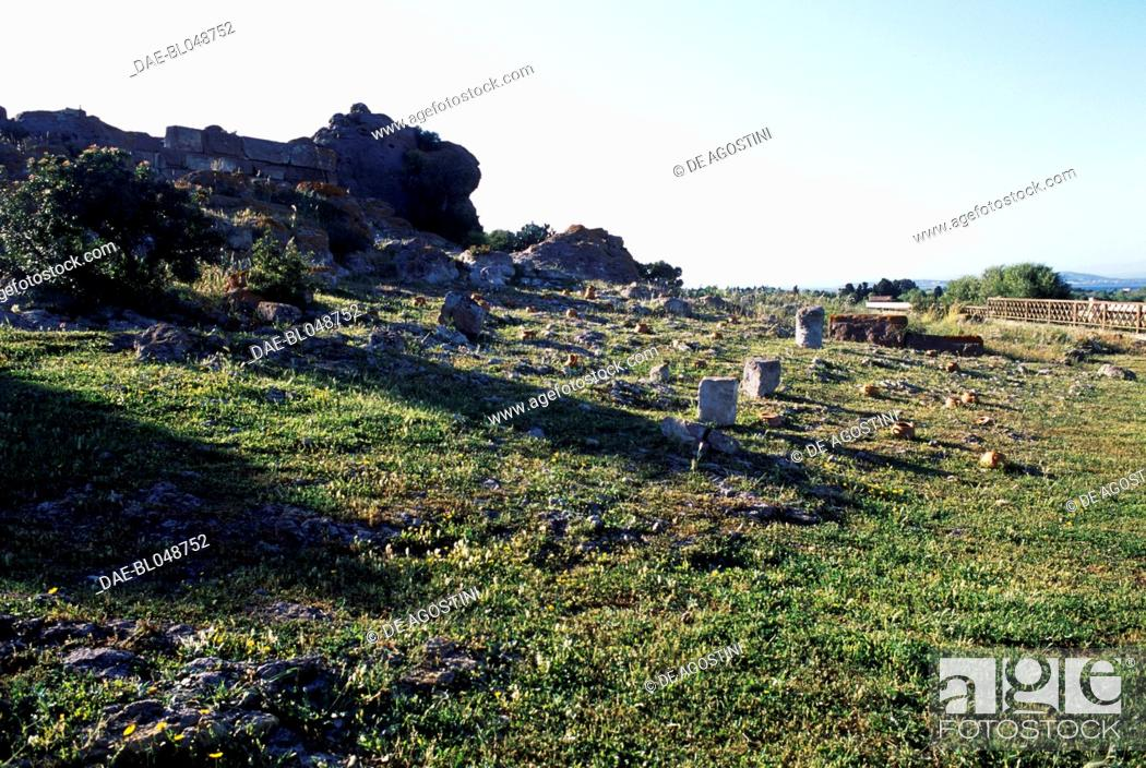 Stock Photo: Tophet of the ancient city of Sulci, Sardinia, Italy. Punic civilisation.
