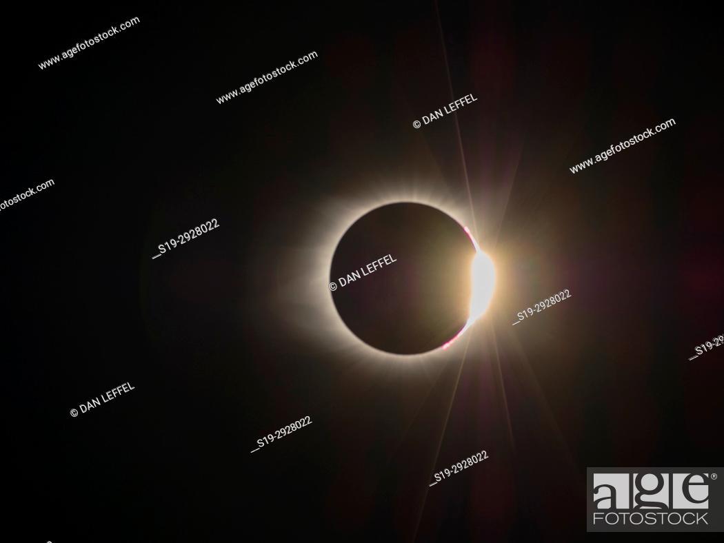 Stock Photo: Great American Eclipse Oregon Aug 2017.