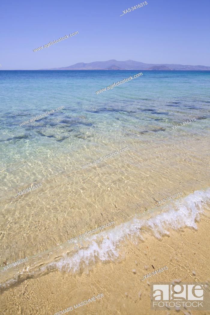 Stock Photo: Plaka Beach, Naxos Island, Cyclades Group, Greece.