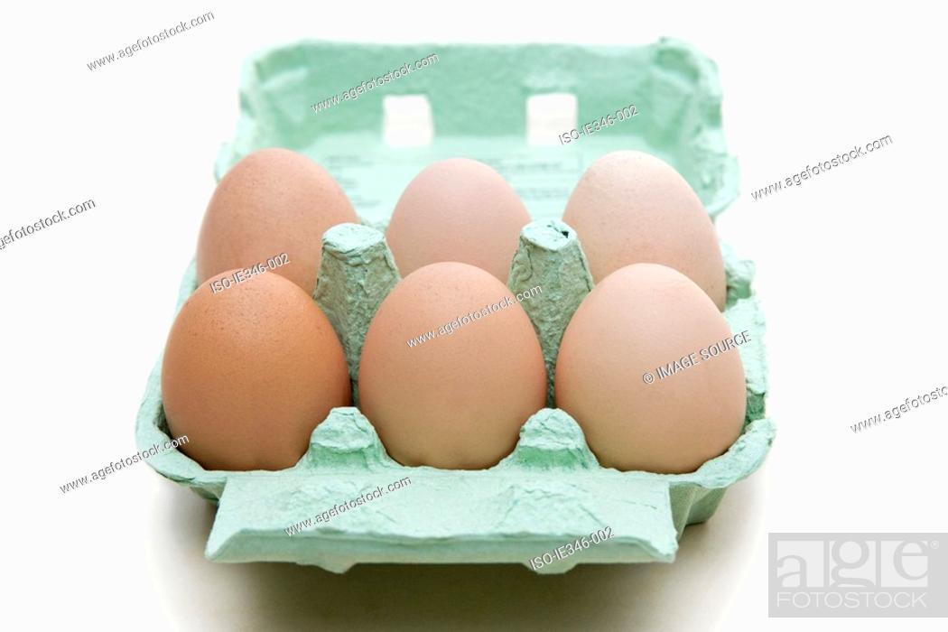 Stock Photo: Free range eggs.