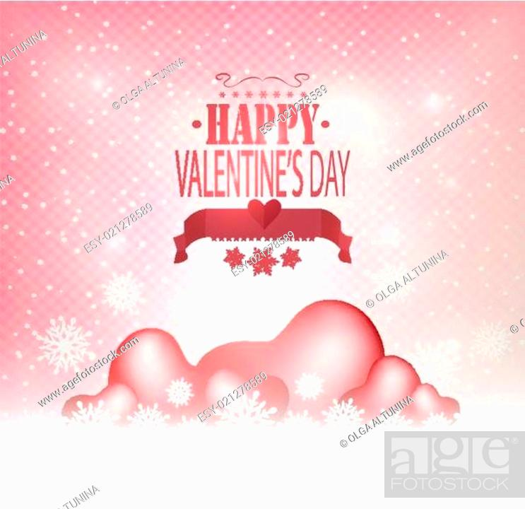 Stock Vector: Valentine's Day Background With Heart.