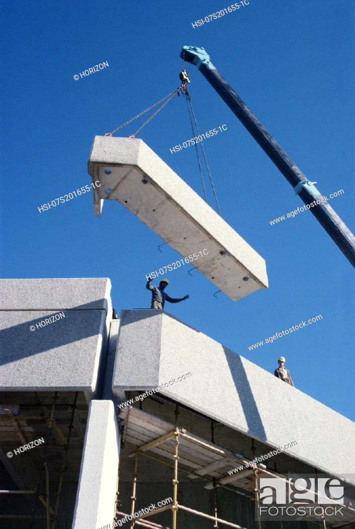 Stock Photo: Highrise, Building, Crane, Construction, Use, Labourer, Hsi