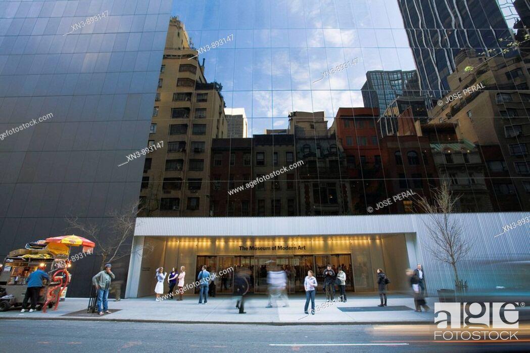Stock Photo: Museum of Modern Art, midtown Manhattan, NYC, USA.