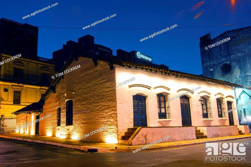 Stock Photo: Casa de la Independencia Museum, Central Asuncion, Paraguay.