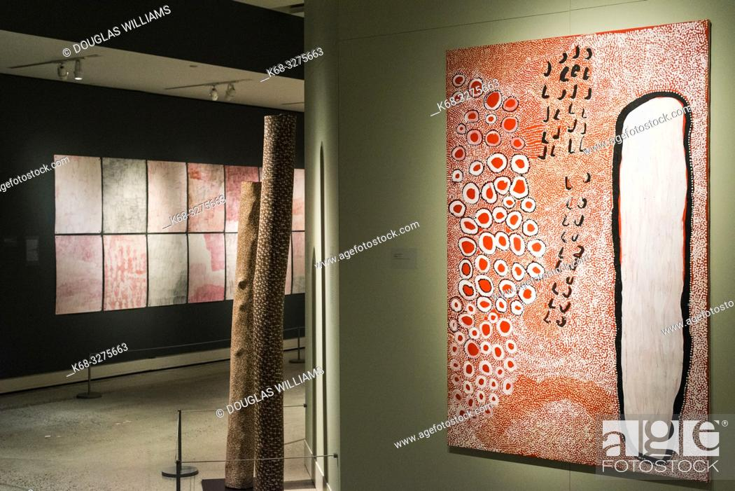 Stock Photo: Marking the Infinite, Contemporary Women Artists from Aboriginal Australia, at the Museum of Anthropology in Vancouver, BC, Canada.