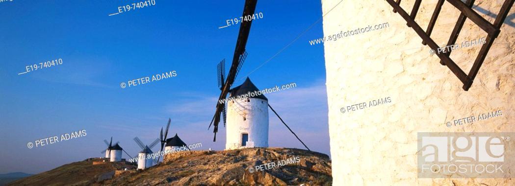 Stock Photo: Windmill. Consuegra. Toledo province. La Mancha. Spain.