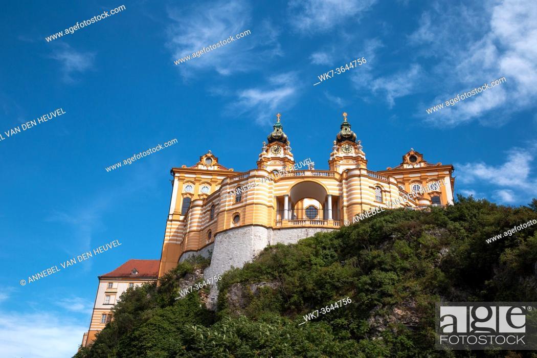 Photo de stock: Stift Melk benedictine abbey monastery, world heritage, abbey in Austria, beautiful view historic place beauty.