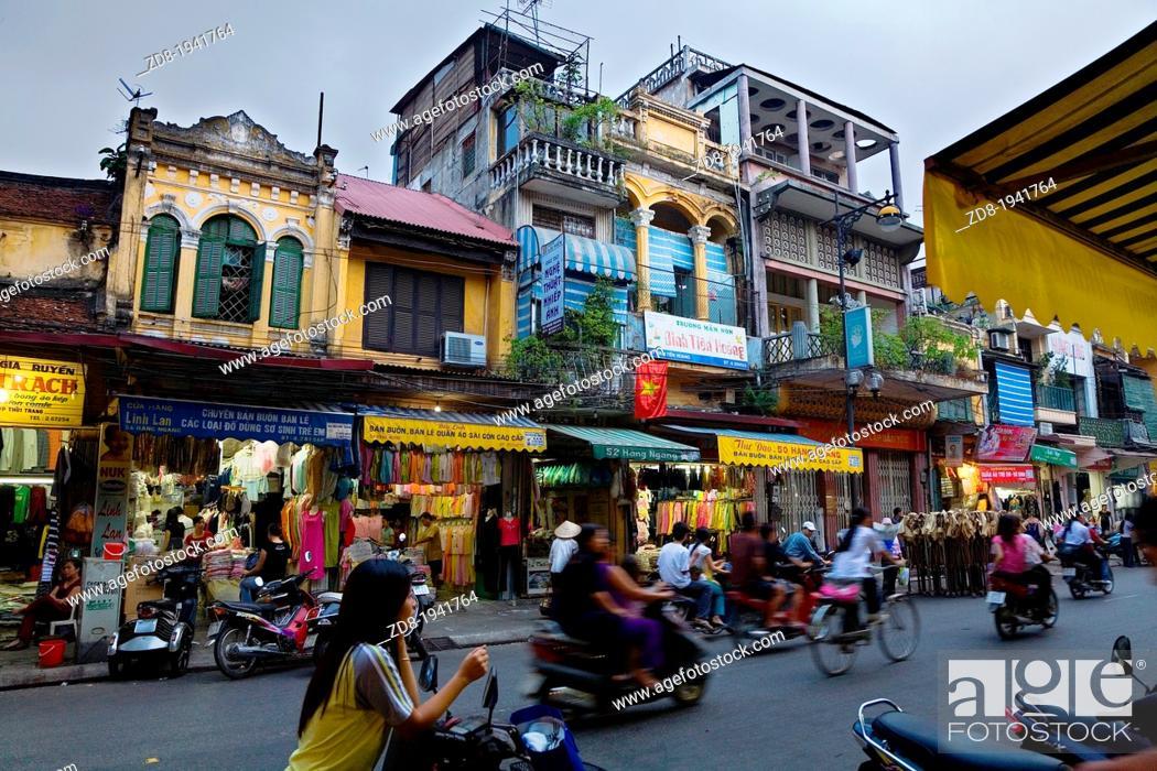 Stock Photo: hanoi. vietnam.