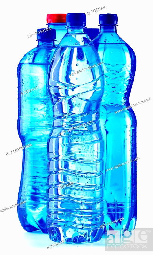 Stock Photo: Polycarbonate plastic bottle of mineral water.