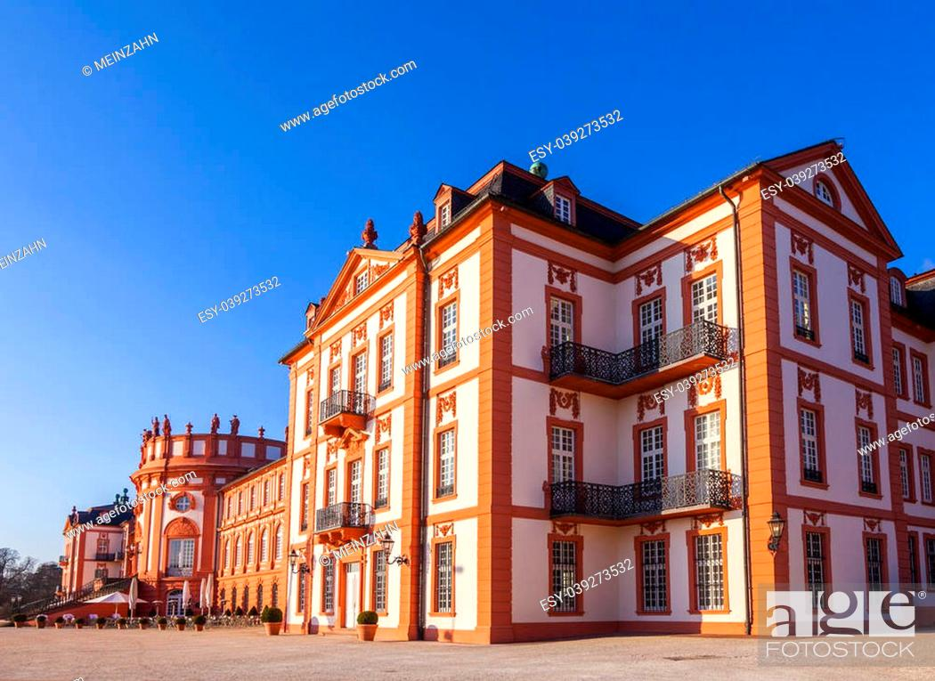 Stock Photo: The palace of Wiesbaden Biebrich, Germany.