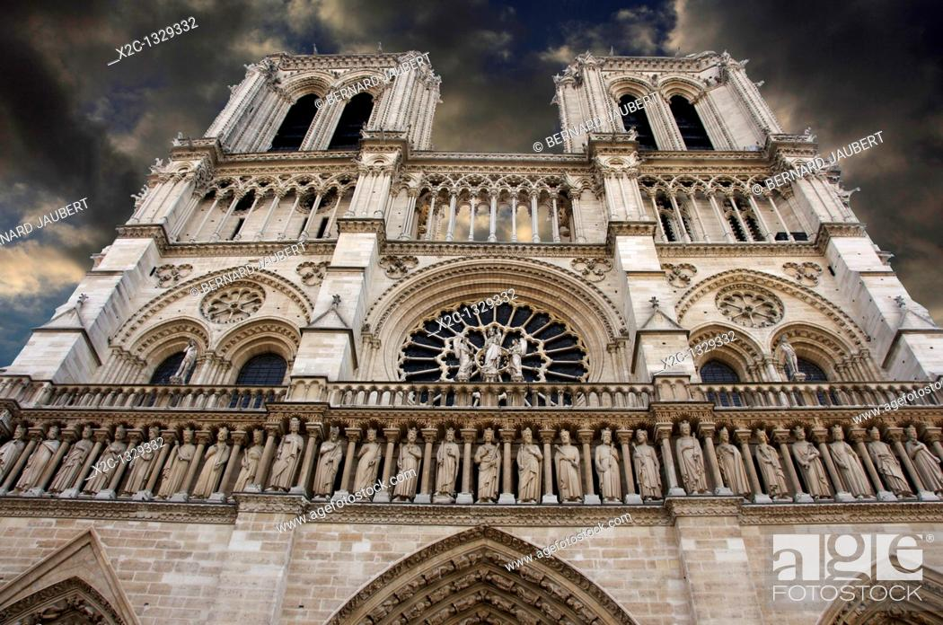 Stock Photo: Cathedral Notre Dame of Paris. France.