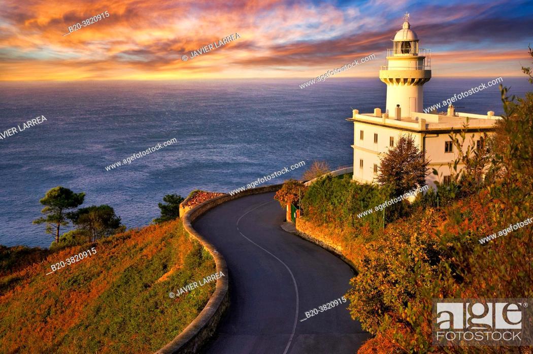 Stock Photo: Igeldo Lighthouse, Donostia, San Sebastian, Gipuzkoa, Basque Country, Spain,.