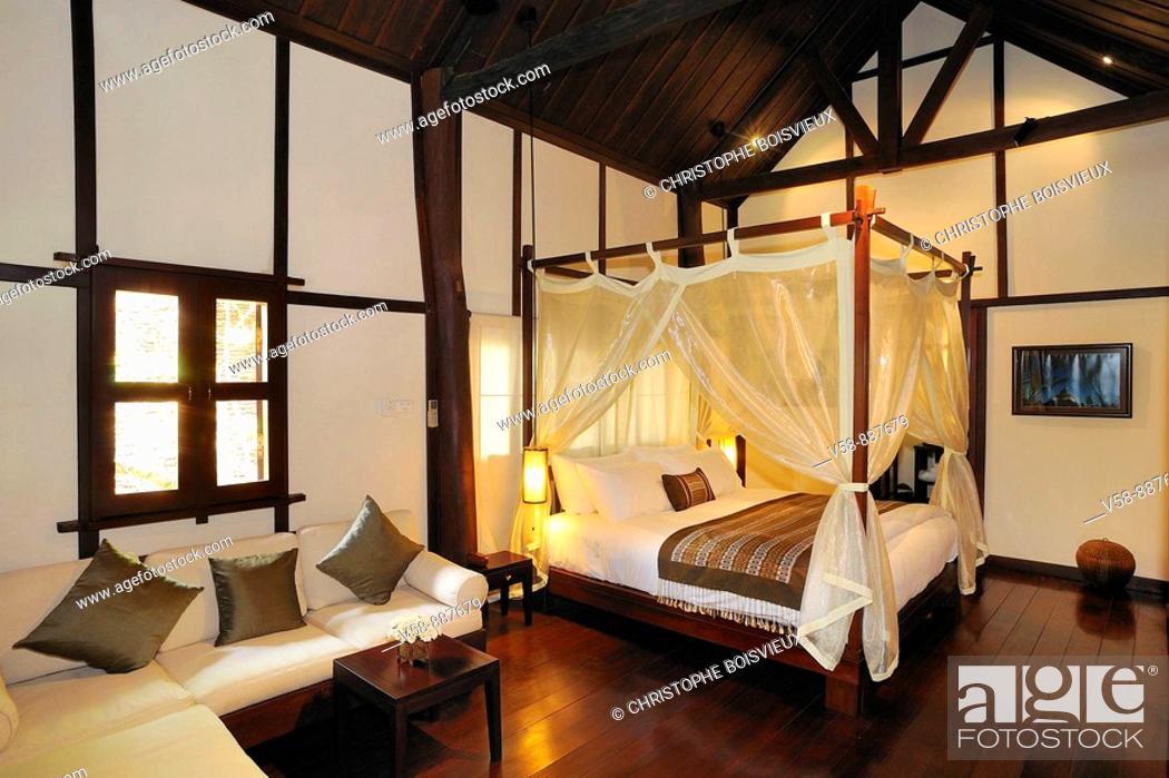 Stock Photo: Hotel 3 Nagas, Luang Prabang, Laos.