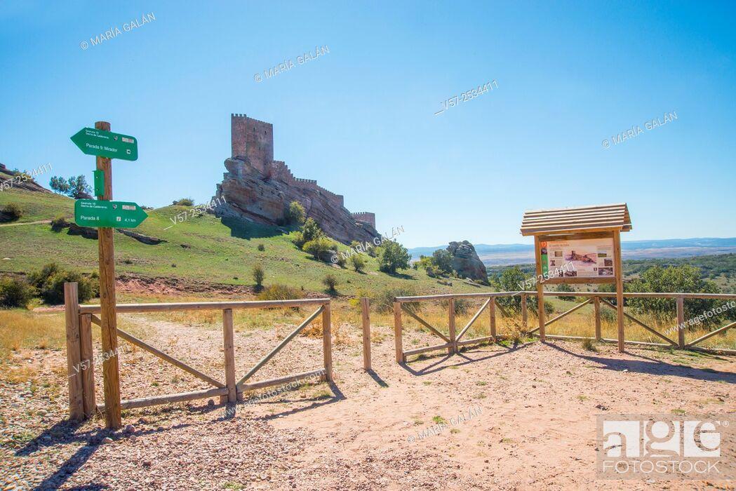 Stock Photo: Zafra castle. Campillo de Dueñas, Guadalajara province, Castilla La Mancha, Spain. Location for Game of Thrones TV series shooting.