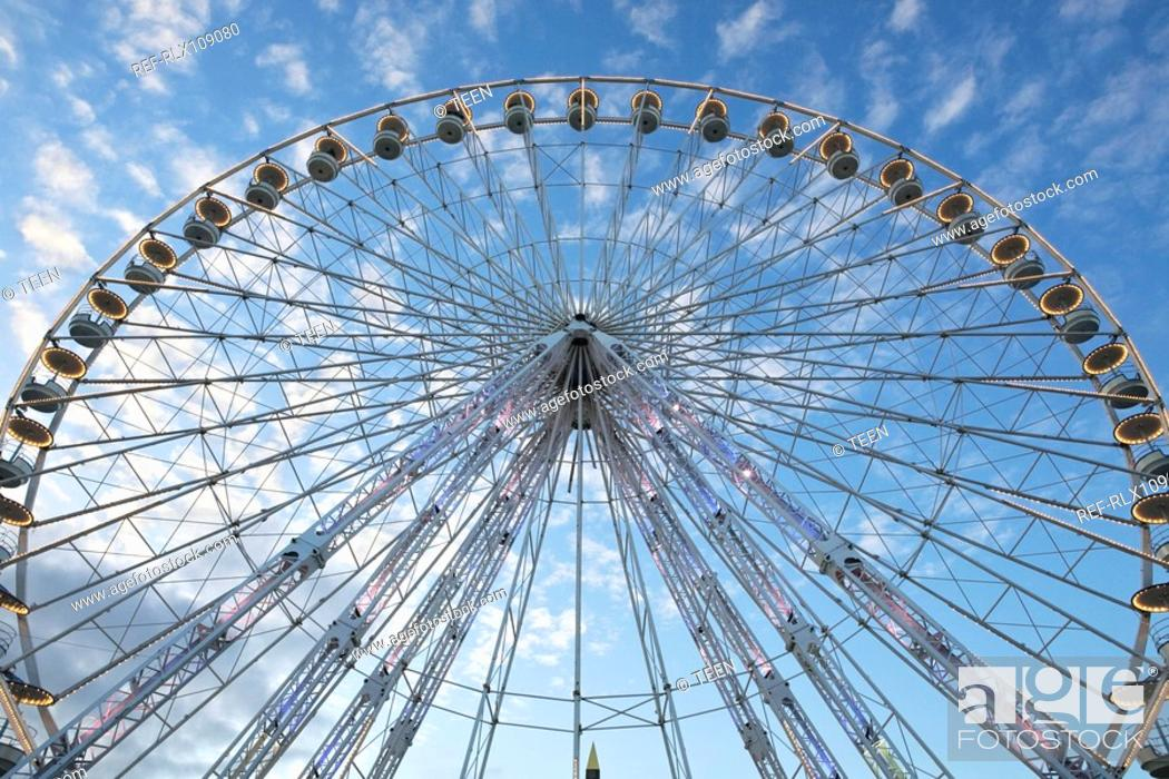 Stock Photo: Ferris wheel on the Place de la Concorde, Paris, France.