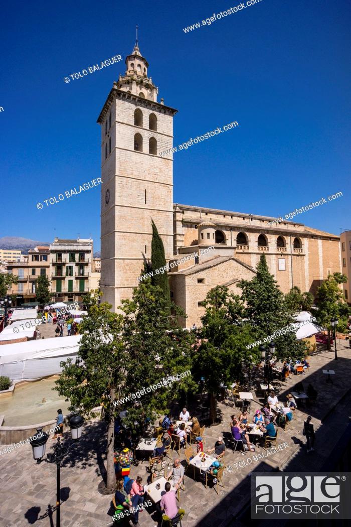 Stock Photo: Iglesia de Santa María la Mayor, Inca, Majorca, Balearic Islands, Spain.