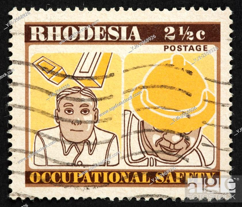 Stock Photo: Rhodesian postage stamp.