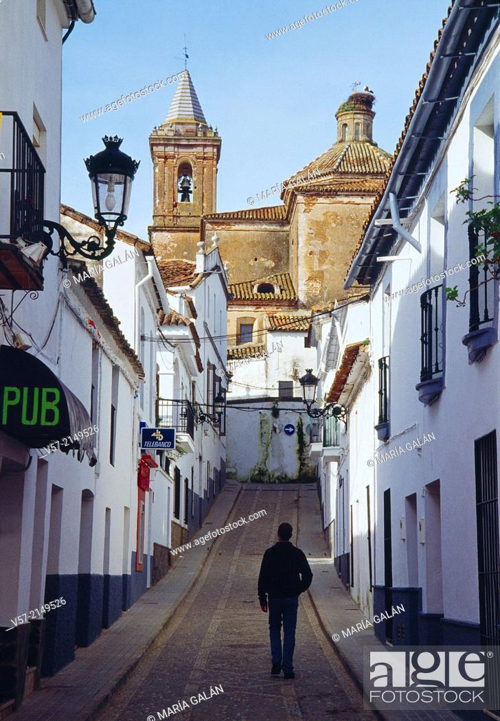 Stock Photo: Street. Jabugo, Huelva province, Andalucia, Spain.