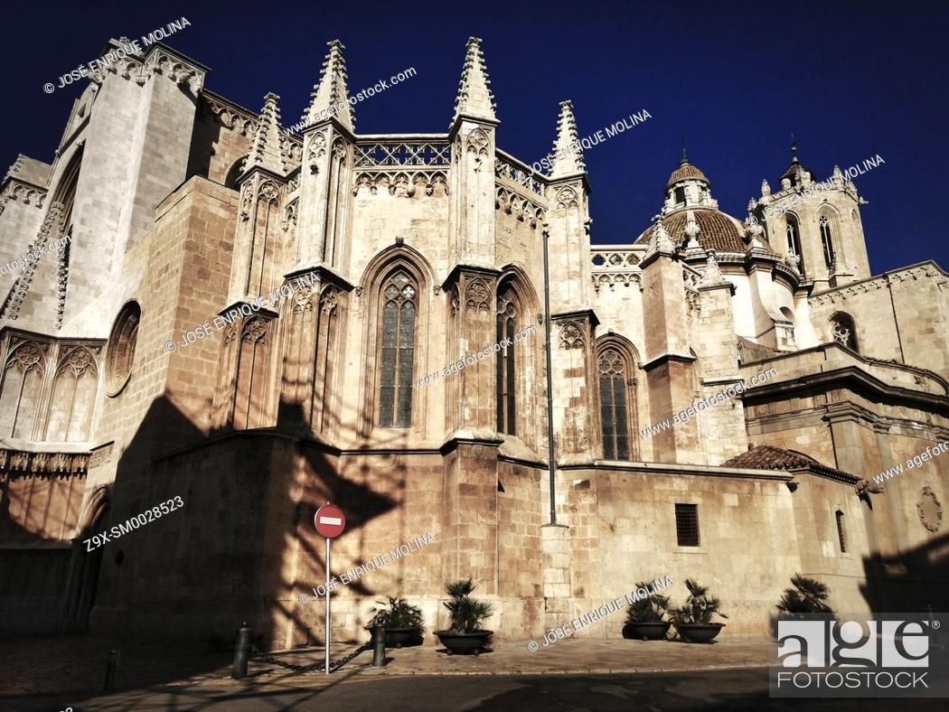 Stock Photo: Tarragona Cathedral, Catalonia, Spain, Europe.