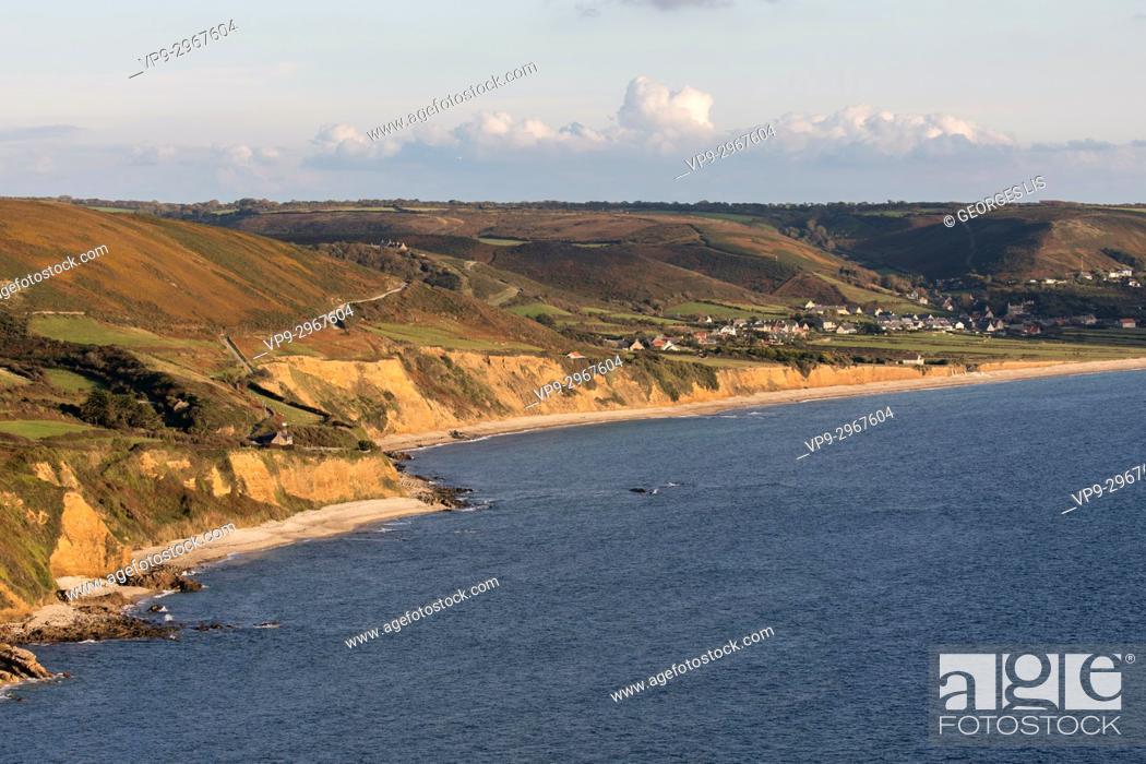 Imagen: Ocean at Baie du Houguet (Houguet bay) between Herqueville and Vauville. Normandy, France.
