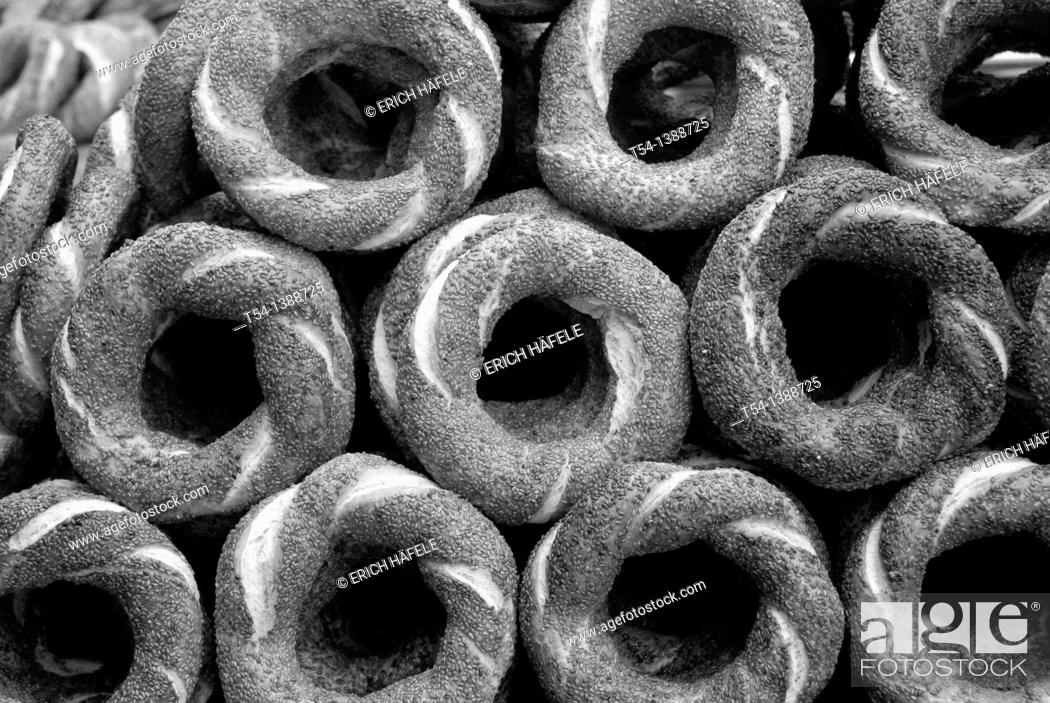 Stock Photo: Turkish sesame rings.