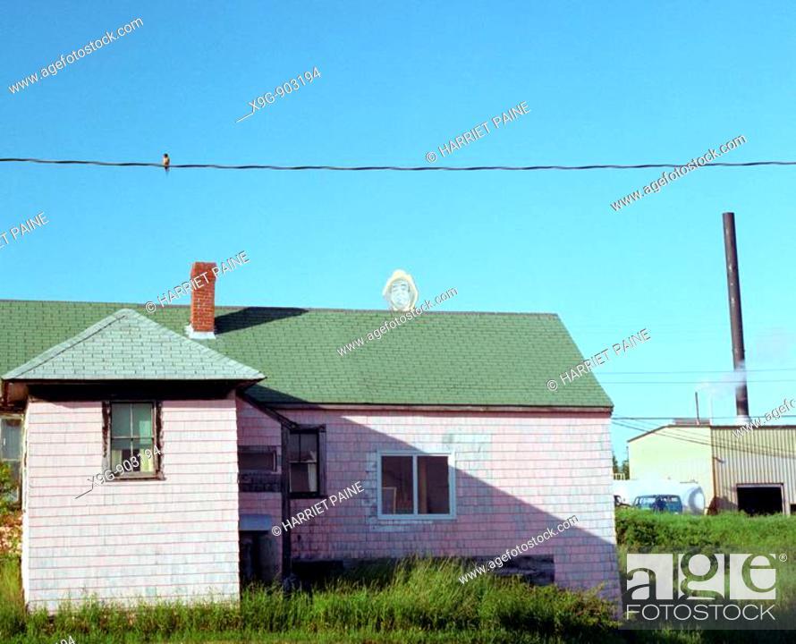 Stock Photo: Stinson Canning, Prospect Harbor, Maine, USA.