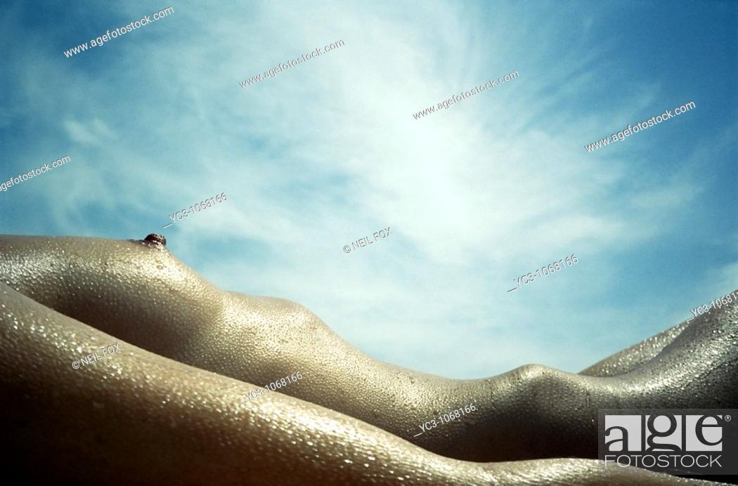 Stock Photo: Woman sunbathing.