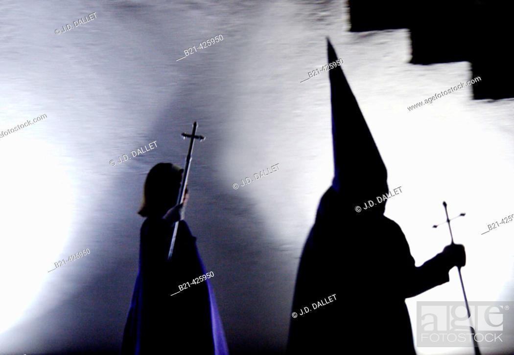 Stock Photo: Holy week at Monda. Málaga province, Andalusia. Spain.
