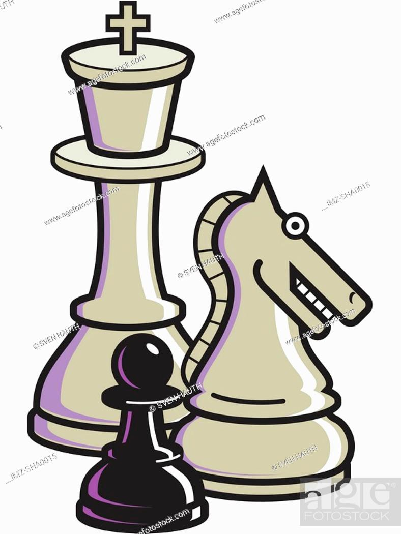 Stock Photo: A graphic representation of chess pieces.