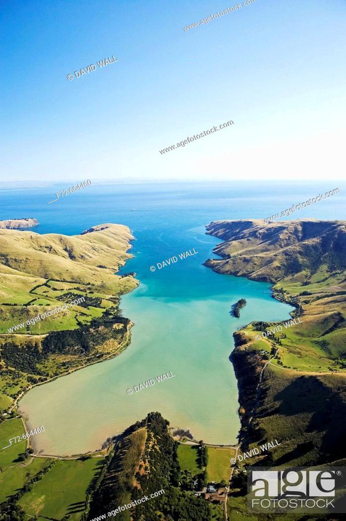 Stock Photo: Port Levy, Banks Peninsula, Canterbury, South Island, New Zealand.