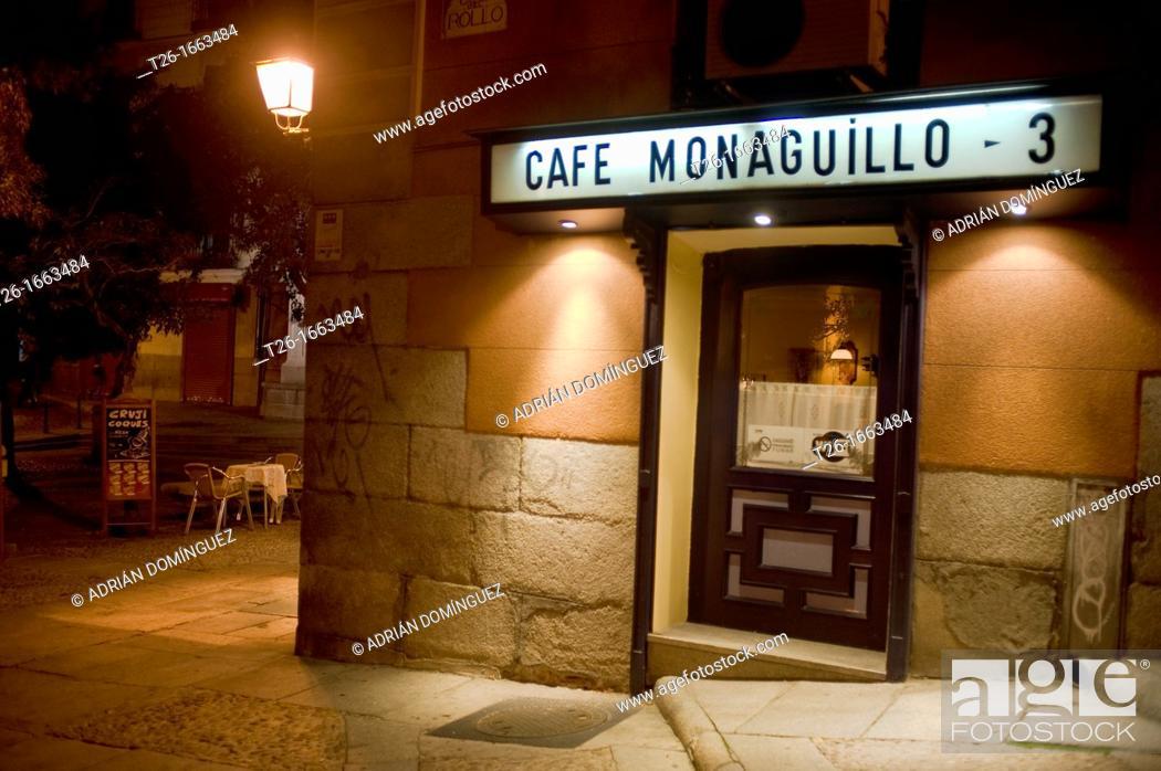 Stock Photo: Monaguillo Café in Madrid, Spain.