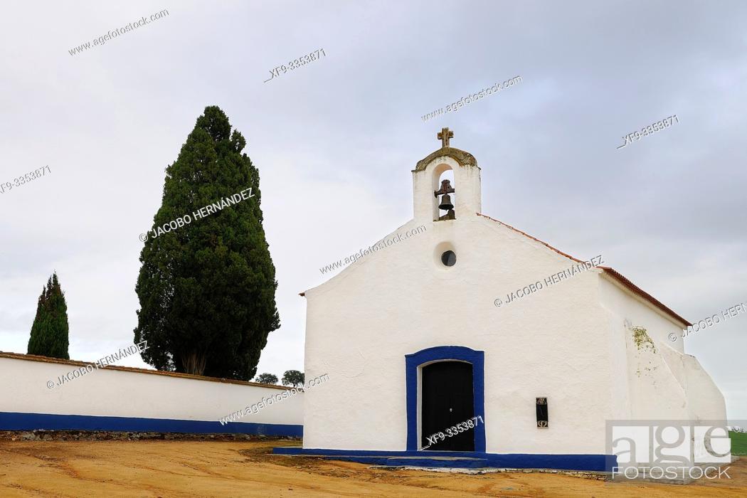 Stock Photo: Church of cemetery. Amieira. Alentejo. Portugal.