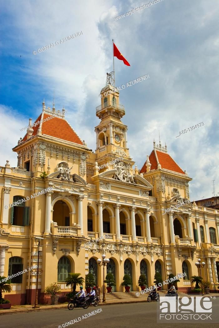 Stock Photo: City Hall. Ho Chi Minh City (formerly Saigon). South Vietnam.