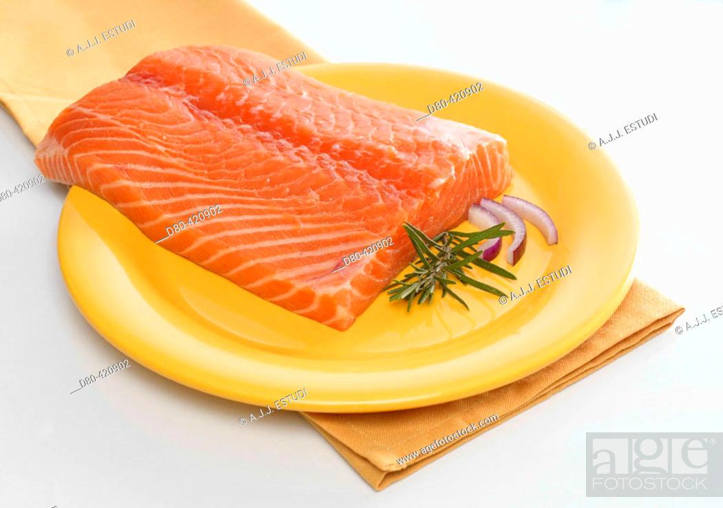 Stock Photo: Fresh salmon.