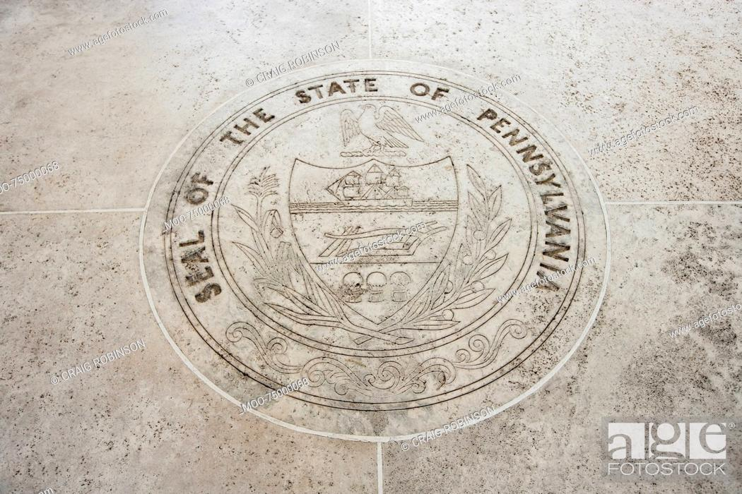 Stock Photo: Seal of Pennsylvania in Fort Bonifacio, Manila, Philippines.