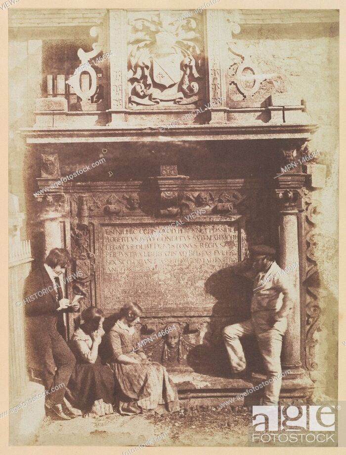 Imagen: The Artist and the Grave Digger. Photography Studio: Hill and Adamson (British, active 1843-1848); Artist: Robert Adamson (British, St.