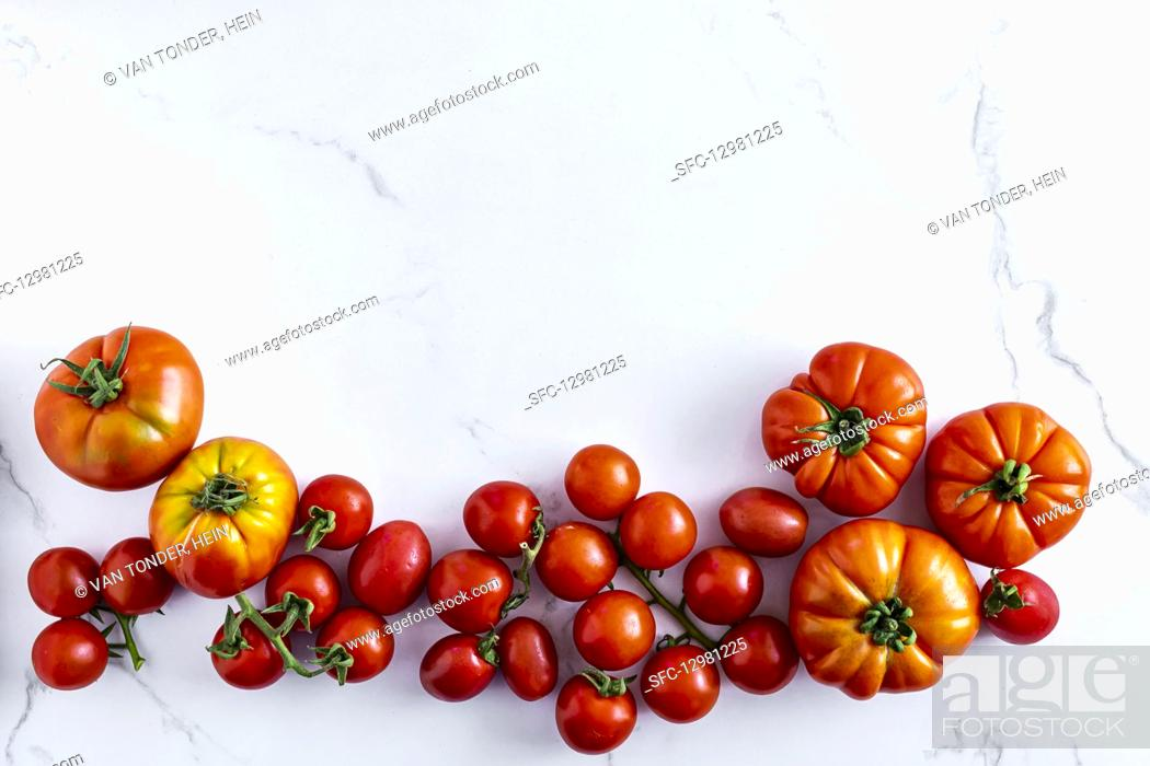 Photo de stock: Heirloom tomatoes.