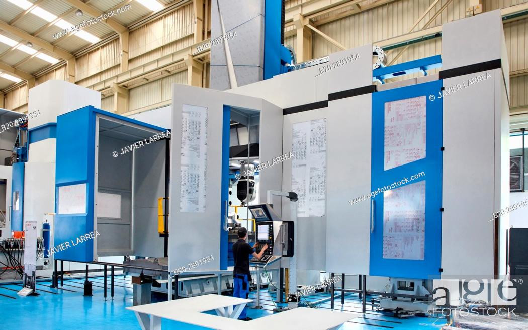Imagen: Vertical lathe. Machining Center. CNC. Design, manufacture and installation of machine tools. Gipuzkoa . Basque Country. Spain. Europe.