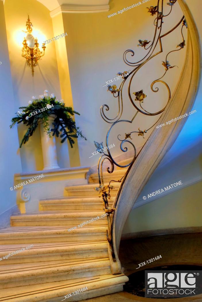 Stock Photo: Interior staircase.