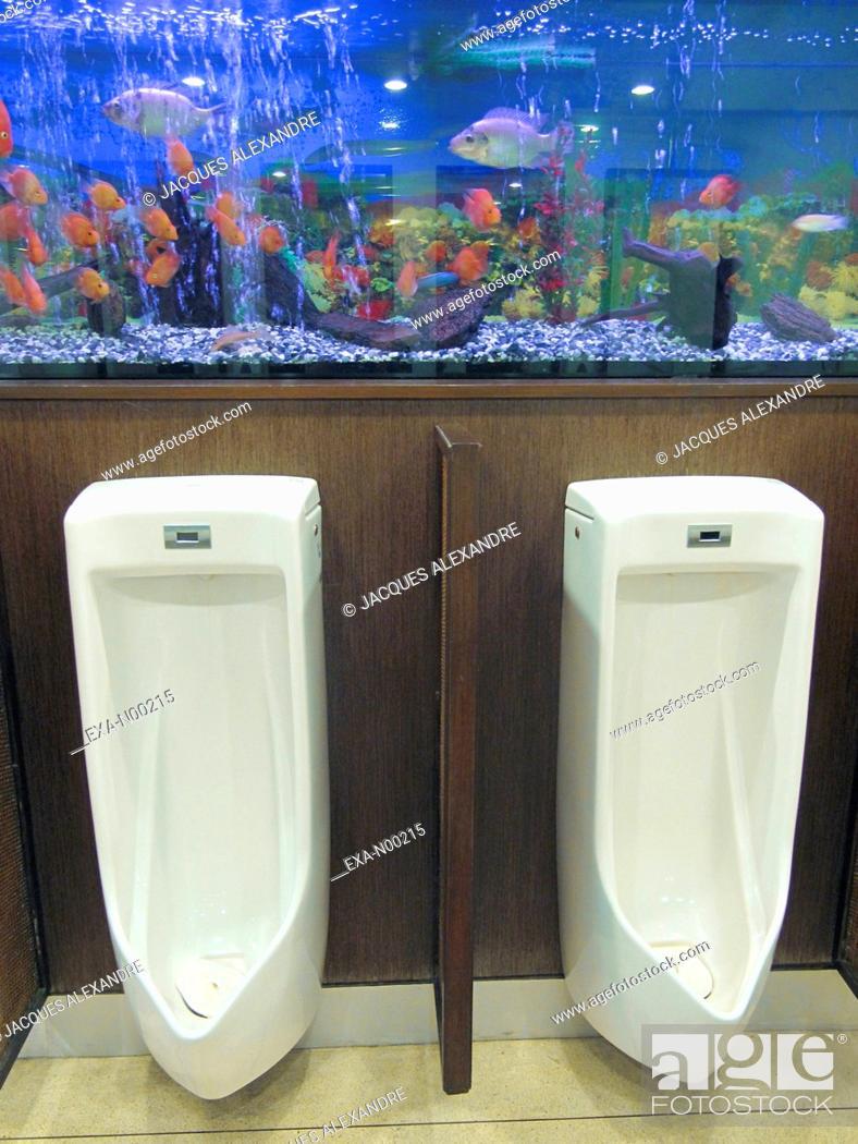 Stock Photo: Urinals at Koh-Samui Airport, Thailand, Asia.