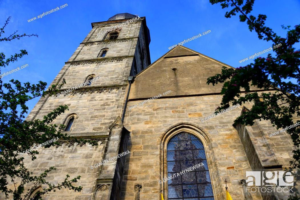 Imagen: St. Martin church, St.-Martin-Strasse, historic part of Forchheim, Forchheim, Franconian Switzerland, Upper Franconia, Franconia, Bavaria, Germany, Europe.