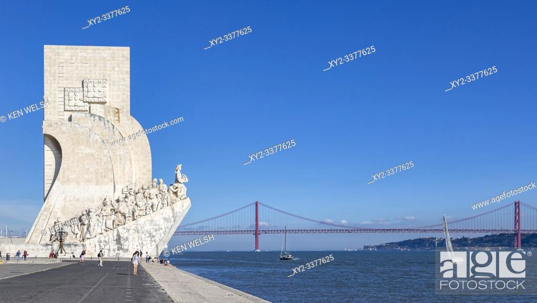 Imagen: Lisbon, Portugal. Padrao dos Descobrimentos or Monument to the Discoveries, which commemorates the 500th anniversary of the death of Prince Henry the Navigator.