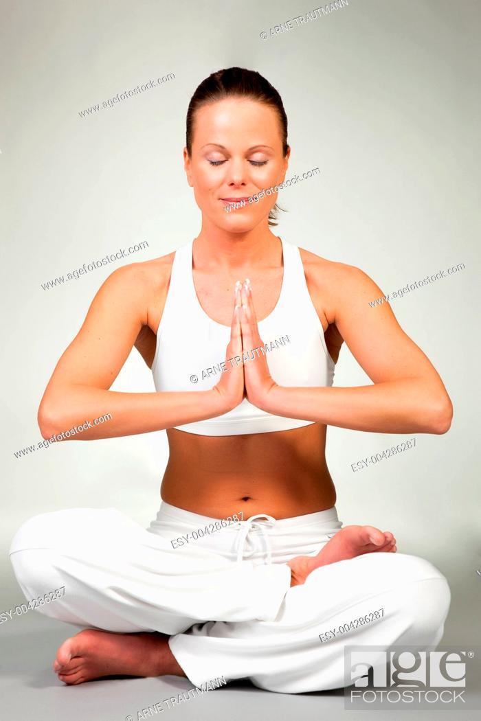 Stock Photo: Yoga - Lotus.