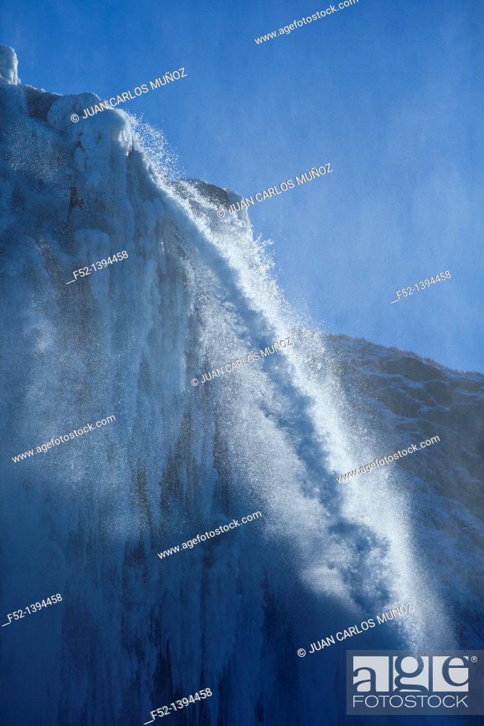 Stock Photo: Selijalandfoss waterfall, Southern Iceland, Iceland, Europe.