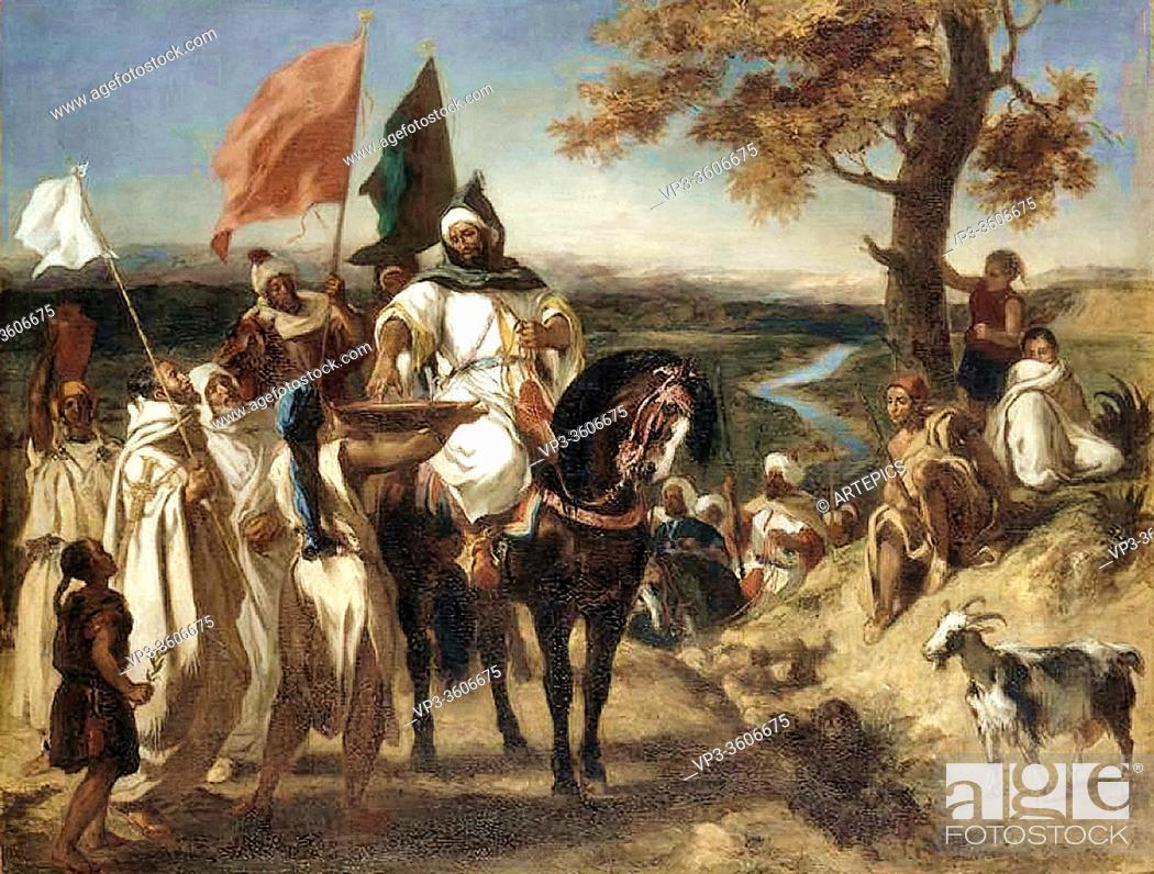 Imagen: Delacroix Eugène - Caid Chef Marocain - French School - 19th Century.