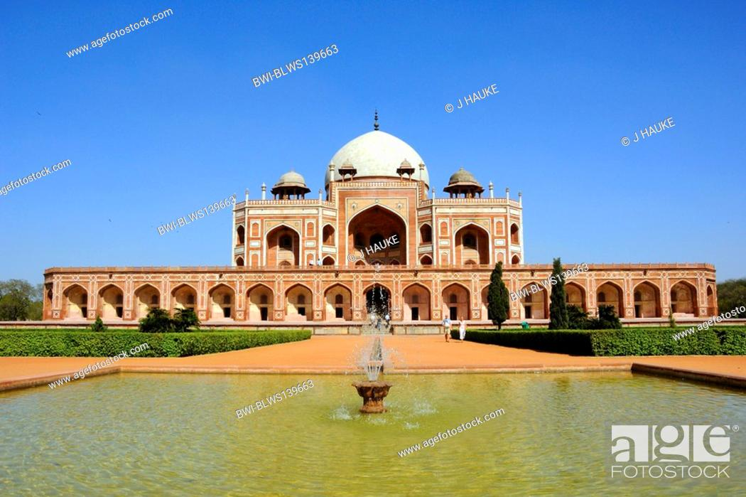 Stock Photo: Humayun's Tomb, India, Delhi.