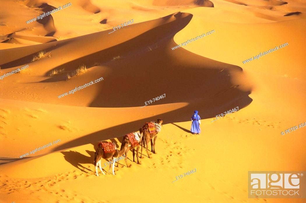 Stock Photo: Erg Chebbi, Merzouga, Morocco.